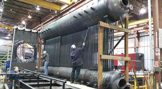Construction d'une nouvelle centrale thermique chez Sanimax- GCI